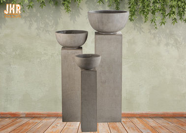 Fiberclay Garden Pots Clay Clay Pots Pots With Pedestal Outdoor Clay Pot Planters Màu be